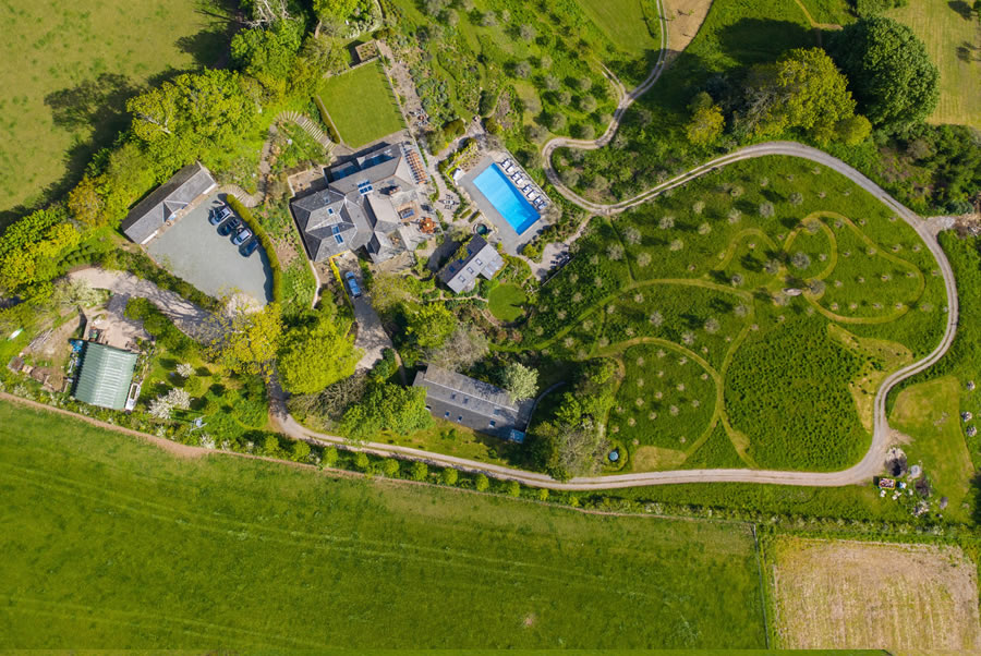 Vennlane House Devon Aerial View2