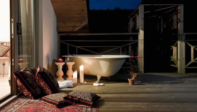 Devonshire House To Hire Bathtub On Decking
