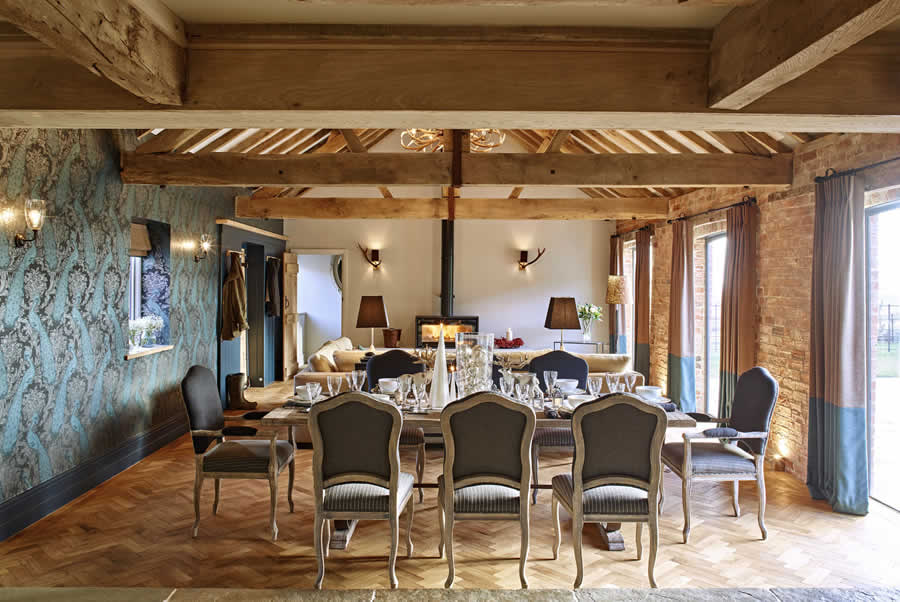 Castlemorton Barns Stables Dining Room