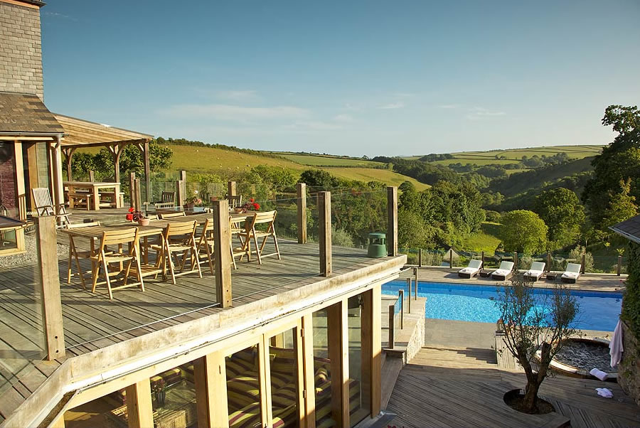 Vennlane House Devon Outdoor Pool2