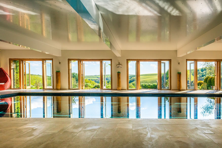 Vennlane House Devon Indoor Heated Pool 2