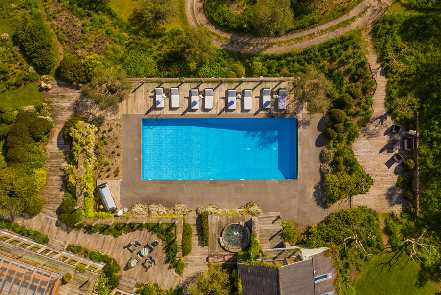 Vannlane House Devon Outdoor Swimming Pool